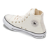 Converse Women's Chuck Taylor All Star Oil Slick Toe Cap Hi-Top Trainers - Parchment/Egret: Image 5