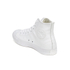 Converse Unisex Chuck Taylor All Star Leather Hi-Top Trainers - White Monochrome: Image 5