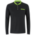 Primal Long Sleeve Henley - Black: Image 1