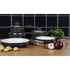 Swan SWPS2010BN 2 Piece Retro Frying Pan Set - Black - 20/28cm: Image 4