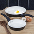 Tower T90920B Taper 2 Piece Ceramic Coated Frying Pan Set - Black: Image 2