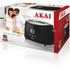 Akai A20001B 2 Slice Cool Touch Toaster - Black: Image 5