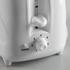 Elgento E20011 4 Slice Toaster - White: Image 4