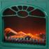 Warmlite WL46014G Stove Fire - Green - 2000W: Image 2