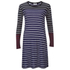 Sonia by Sonia Rykiel Women's Striped Tencel Dress - Indigo/Navy/Brownie/Ecru: Image 1