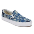 Vans Unisex Classic Slip-on Indigo Tropical Trainers - Blue/True White: Image 2