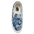 Vans Unisex Classic Slip-on Indigo Tropical Trainers - Blue/True White: Image 3