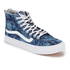 Vans Women's Sk8-Hi Slim Zip Indigo Tropical Trainers - Blue/True White: Image 2