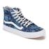 Vans Women's Sk8-Hi Slim Zip Indigo Tropical Trainers - Blue/True White: Image 2