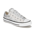Converse Women's Chuck Taylor Textile Glitter OX Trainers - Silver/Mouse/White: Image 2