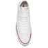 Converse Men's Chuck Taylor All Star Woven Canvas Hi-Top Trainers - White/Red: Image 3