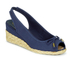 Lauren Ralph Lauren Women's Camille Canvas Wedged Espadrilles - Sailing Navy: Image 2