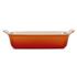 Le Creuset Stoneware Medium Heritage Rectangular Roasting Dish - Volcanic: Image 2