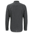 Brave Soul Men's Oakley Collarless Long Sleeve Shirt - Charcoal/Black: Image 2