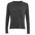 VILA Women's Central Long Sleeve Top - Dark Grey Melange: Image 1