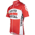 Lotto Soudal Short Sleeve Long Zip Jersey 2016 - Red/White: Image 2