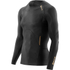 Skins A400 Men's Logo Long Sleeve Top - Black/Gold: Image 1