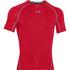 Under Armour Men's Armour HeatGear Short Sleeve Training T-Shirt - Red/Steel: Image 1
