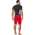Under Armour Men's HeatGear Long Compression Shorts - Red/Black: Image 5