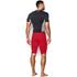 Under Armour Men's HeatGear Long Compression Shorts - Red/Black: Image 5