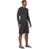 Under Armour Men's ColdGear Armour Compression Long Sleeve Crew Top - Dark Grey: Image 4