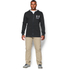 Under Armour Men's Tri-Blend Fleece Hoody - Black: Image 3