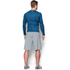 Under Armour Men's HeatGear Armour Long Sleeve Compression Shirt - Black/Blue: Image 5