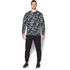 Under Armour Men's Storm Rival Fleece Printed Crew Sweatshirt - Grey: Image 3