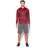 Under Armour Men's Tech Printed 1/4 Zip Long Sleeve Top - Red: Image 3