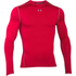 Under Armour Men's ColdGear Armour Compression Crew Top - Red: Image 1
