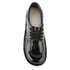 Kickers Women's Kick Lo Patent Lace Up Shoes - Black: Image 3