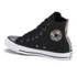 Converse Women's Chuck Taylor All Star Oil Slick Toe Cap Hi-Top Trainers - Black: Image 4
