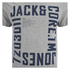 Jack & Jones Men's Core Wall T-Shirt - Light Grey Marl: Image 3