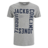 Jack & Jones Men's Core Wall T-Shirt - Light Grey Marl: Image 1