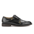 H Shoes by Hudson Mens Baldwin Hi Shine Leather Monk Shoes – Black: Image 1