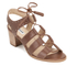 Dune Women's Ivanna Leather Strappy Heeled Sandals - Tan: Image 2