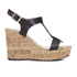 Dune Women's Kier Di Leather Wedged Sandals - Black: Image 1
