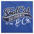 Soul Cal Men's Cracked Print Logo Hoody - Cobalt Blue: Image 3
