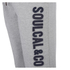 Soul Cal Men's Large Logo Cuffed Sweatpants - Grey Marl: Image 3