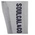 Soul Cal Men's Large Logo Cuffed Sweatpants - Grey Marl: Image 3