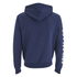 Soul Cal Men's Sleeve Print Logo Zip Through Hoody - Navy: Image 2