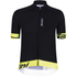 Santini Sleek 2.0 Aero Short Sleeve Jersey - Black/Yellow: Image 1