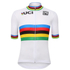 Santini UCI World Road Champion Short Sleeve Jersey - White: Image 2