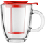 Bodum Yo Yo Set Mug And Tea Infuser - Red: Image 1