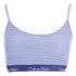 Calvin Klein Women's CK Cotton Millenial Stripe Bralette - Navy: Image 1