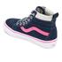 Vans Kids' Sk8-Hi Zip Trainers - Navy/Pink: Image 4