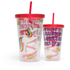 Unicorn Straw Cup - Multi (16oz): Image 1