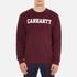 Carhartt Men's College Sweatshirt - Chianti/White: Image 1