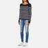 ONLY Women's Mila Stripe Long Sleeve Top - Night Sky: Image 4