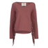 ONLY Women's Madge Long Sleeve O-Neck Tassel Sweatshirt - Marsala: Image 1